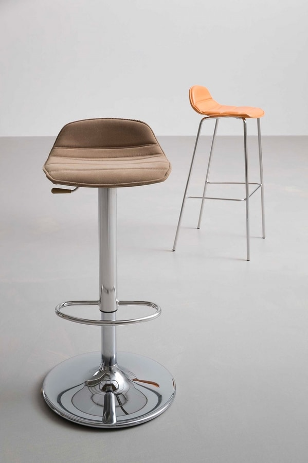 Alhambra Stool 97 A - AV dress, Adjustable, padded stool