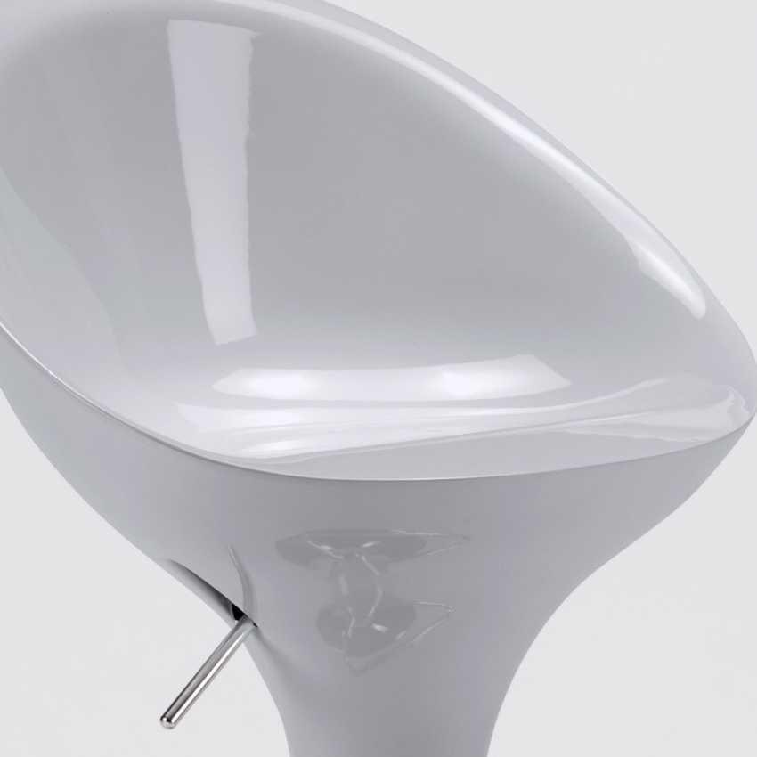 Bar stool and kitchen with swivel chrome peninsula SAN DIEGO Modern design - SGA800SDG, Height-adjustable high stool
