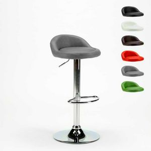High stool for kitchen and chromed imitation leather bar BALTIMORA - SGA800BAL, Bar stool with eco-leather seat