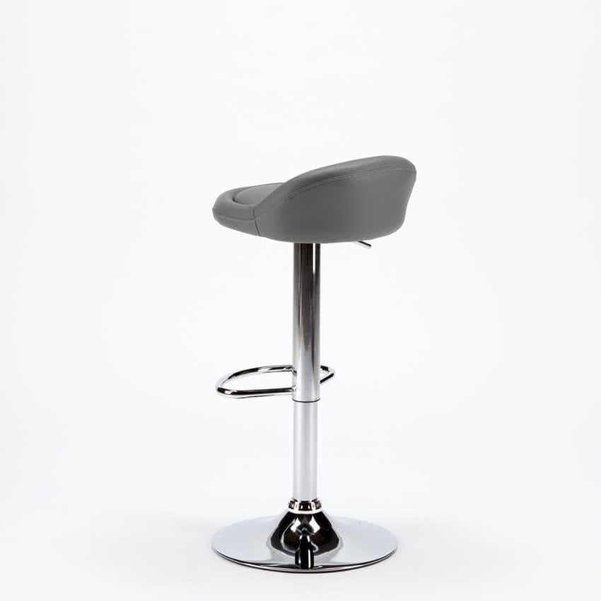 High stool for kitchen and chromed imitation leather bar BALTIMORA - SGA800BAL, Bar stool with eco-leather seat
