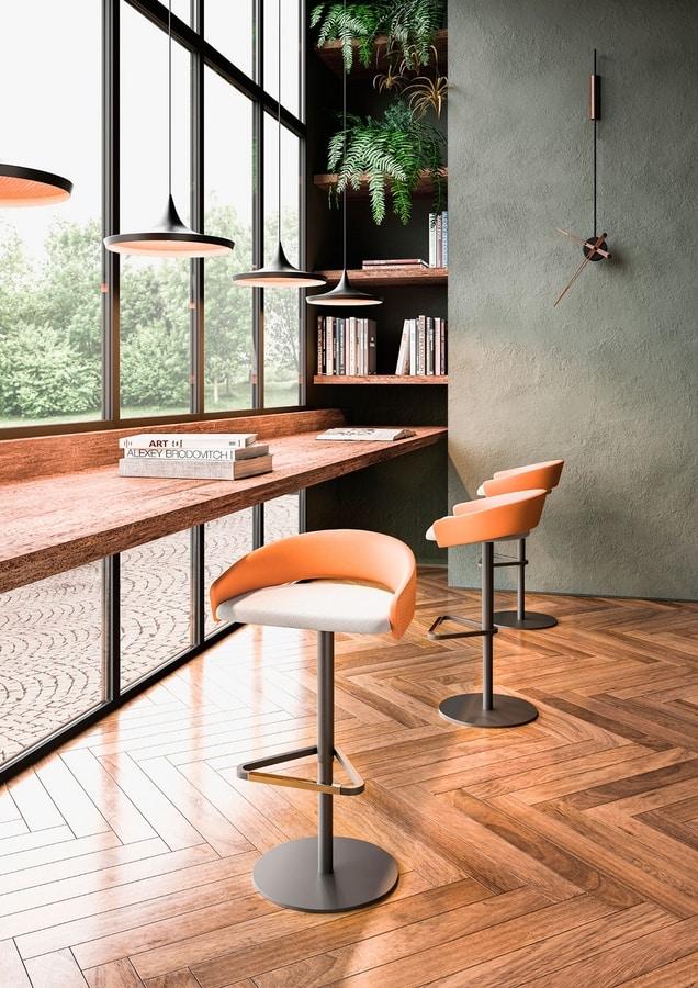 Kimmi, Height-adjustable stool