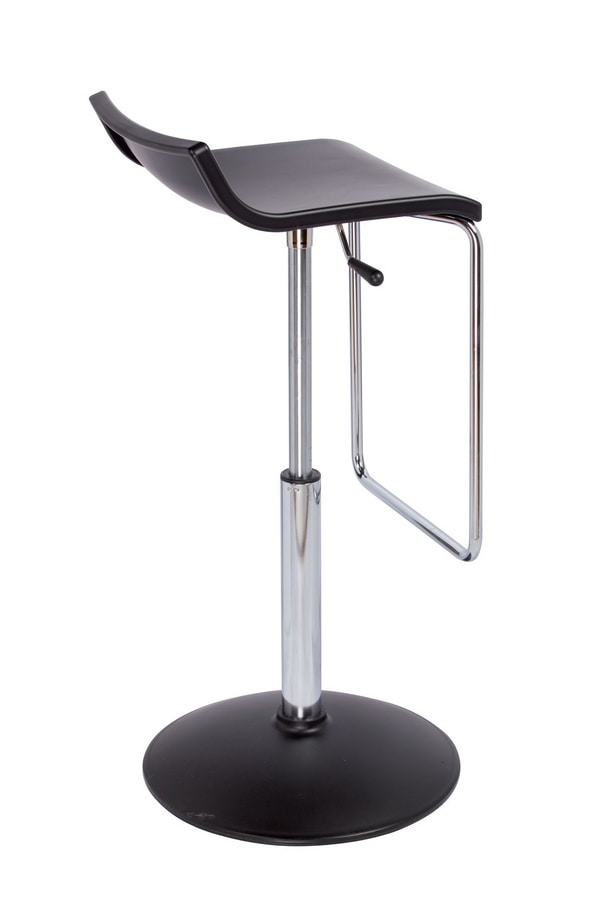 Micro A, Adjustable stool, with round base
