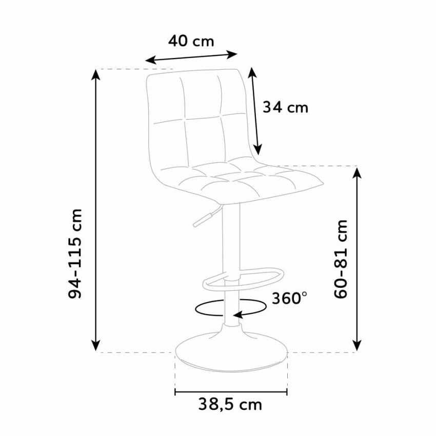 Modern fabric stool for kitchen and bar design PHOENIX - SGA800PHO, Fabric stool for kitchen and bar
