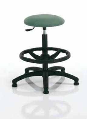 Woody-I, Height-adjustable round stool