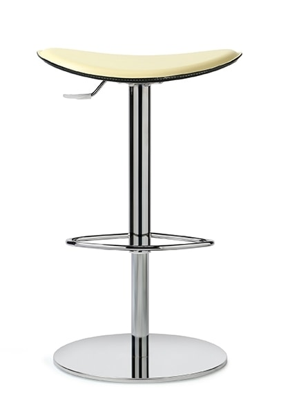 ZIP 190, Stool with leather seat