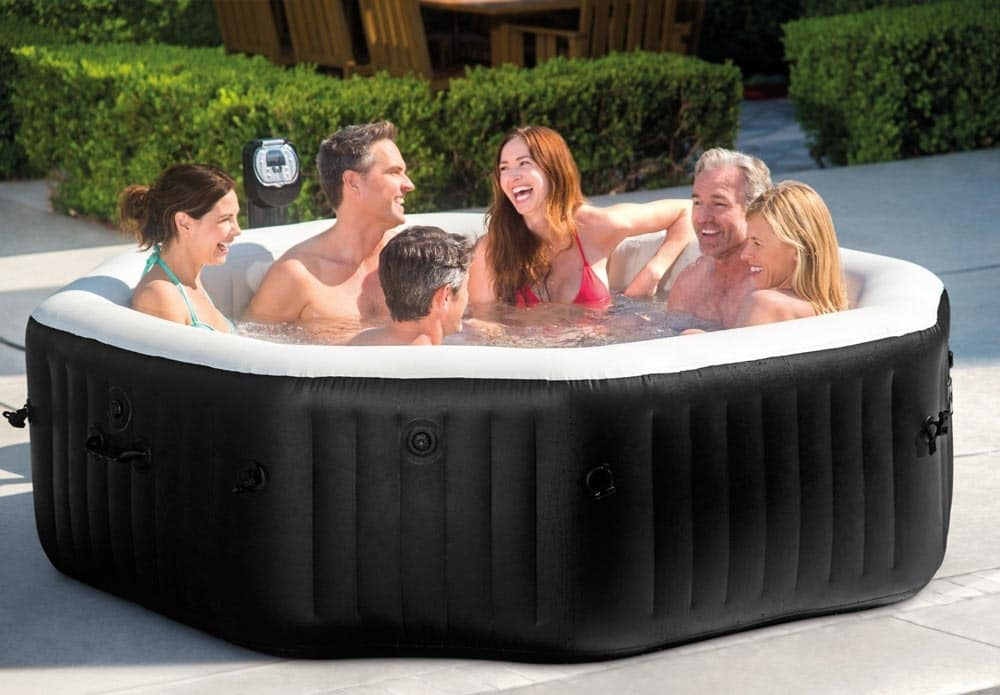 Tub above ground Intex - 28456, Inflatable tub, solid and quiet, for a maximum of 6 people