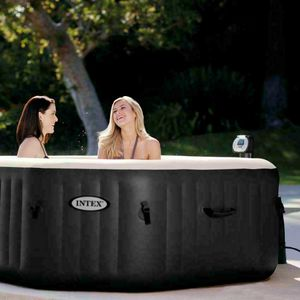 Idromassaggio gonfiabile Intex 28454 Jet Bubble spa rettangolare clorinatore 201x71 TOP DI GAMMA - 28454, Hydromassage hot tub for 4 people