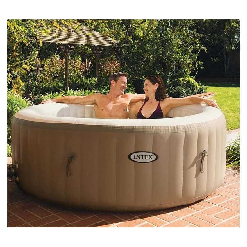 Inflatable whirlpool Intex 28408 Bubble spa round bath 216x71 cm - 28408, Minipool with hydromassage and water heating