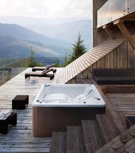 MYSPA 195_E, Mini swimming pool with Jacuzzi and waterfall, color therapy