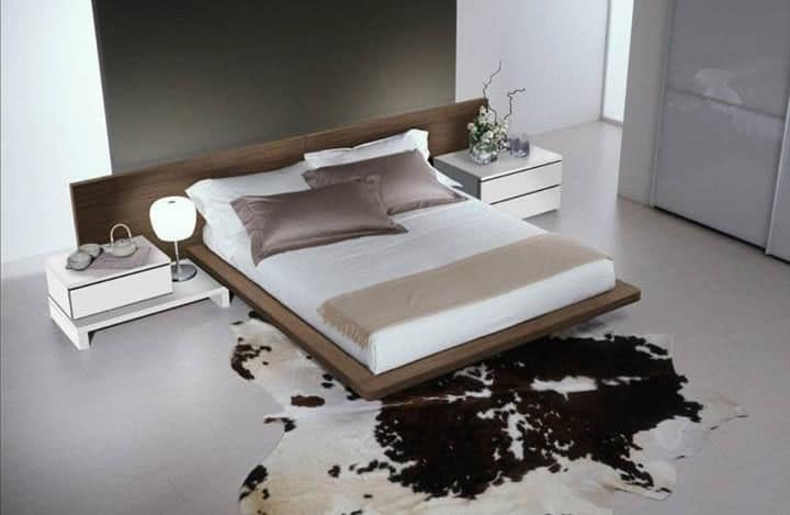 Bedroom 14, Furniture for bedrooms, modern bed with a large headboard