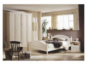 Collection Marta Bedroom, Furniture for hotel rooms in solid pine