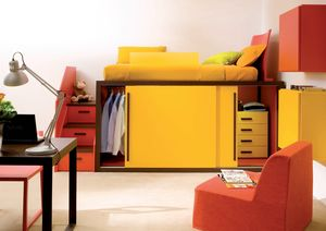 Boxer 7060, Loft bed with wardrobe