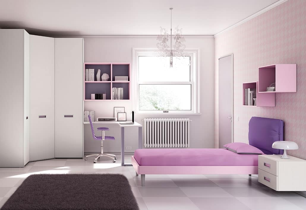 Camerette Armadio Ad Angolo.Children Bedroom With Wall Units And Corner Cabinet Idfdesign