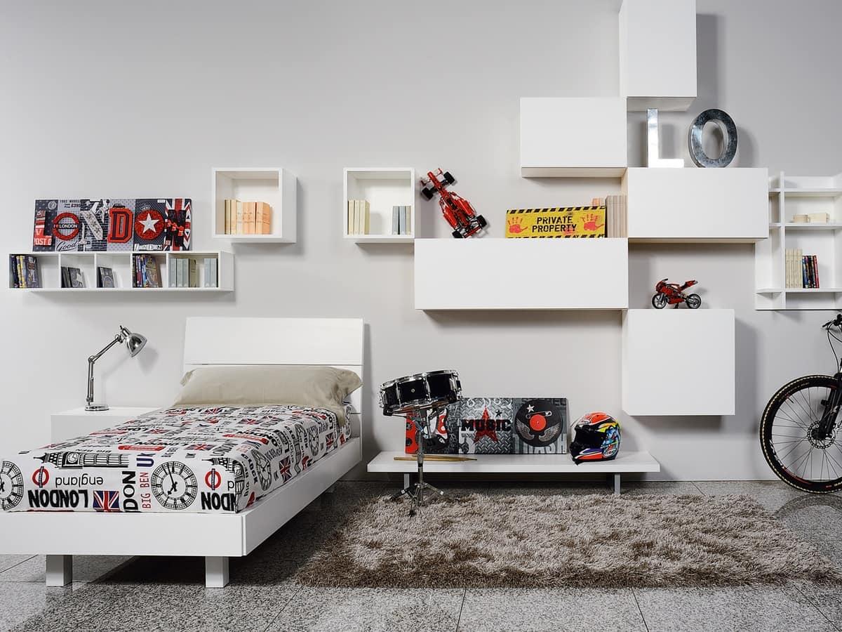 Climb Ragazzi 17, Modular bedroom for children, ideal for optimizing space