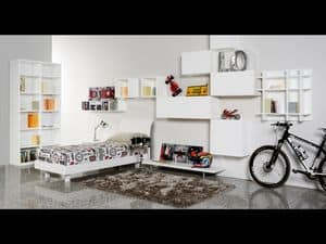 Climb Ragazzi 17, Modular bedroom for children, ideal for optimizing space