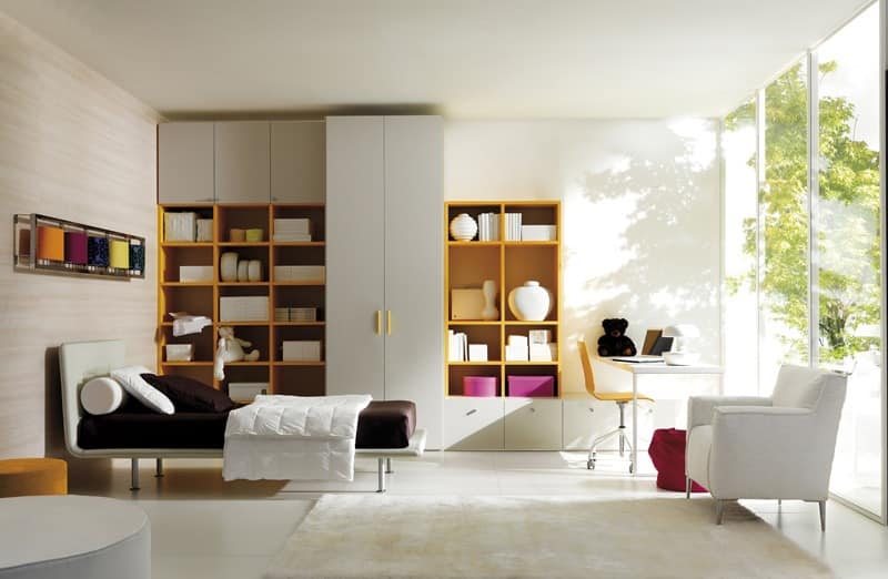 Comp. 104, Beds for children, reconfigurable room, modern style
