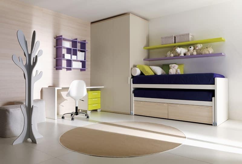Comp. 111, Junior bed, angular shape