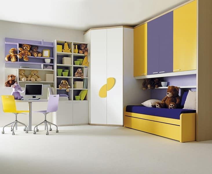 Comp. 209, Children's bedroom furniture, in laminated wood