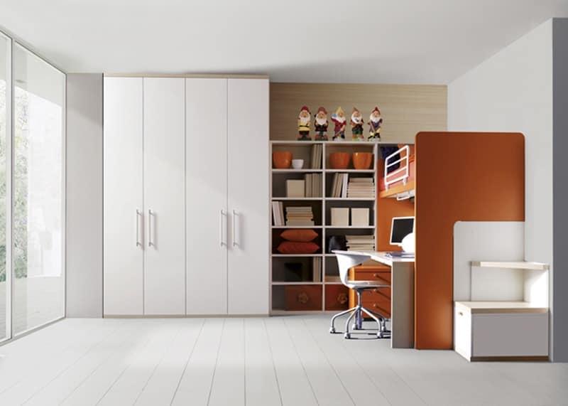 Comp. 308, Children's room, wood laminate, side ladder