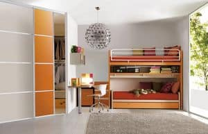 Comp. 310, Complete bedroom, patented bunk