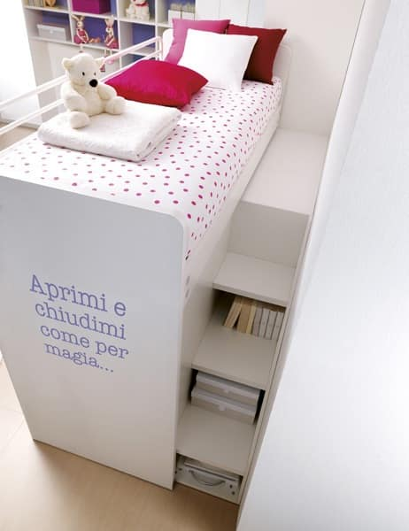 Comp. 401, Solution for kids room, patented loft bed