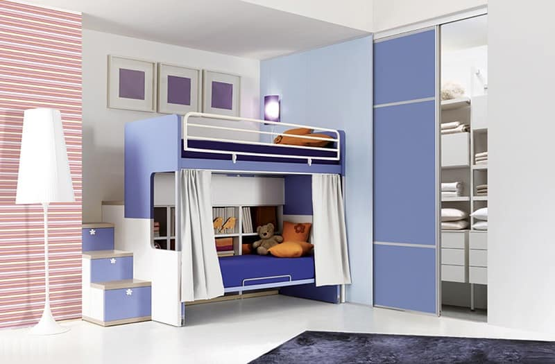 Comp. 903, Kids rooms with bunk beds, functional and tidy