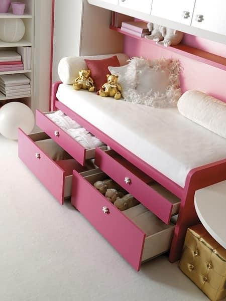 Comp. 930, Furniture for childrens' bedroom, modular components