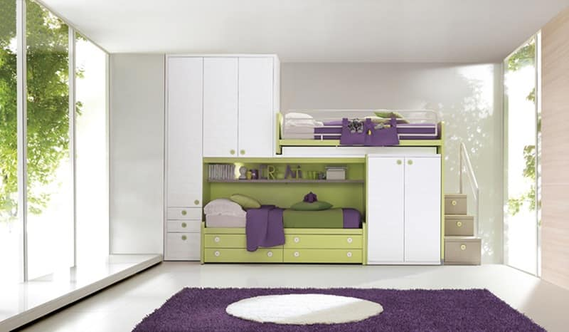 Modular Room For Children Bunk Bed With Wardrobes Idfdesign
