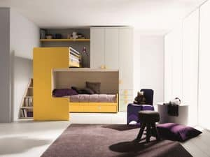 Comp. New 407, Elegant and functional bedroom, with double bed, corner loft