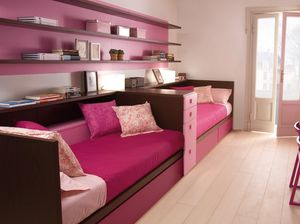 Compact 7040, Pink bedroom for small girls