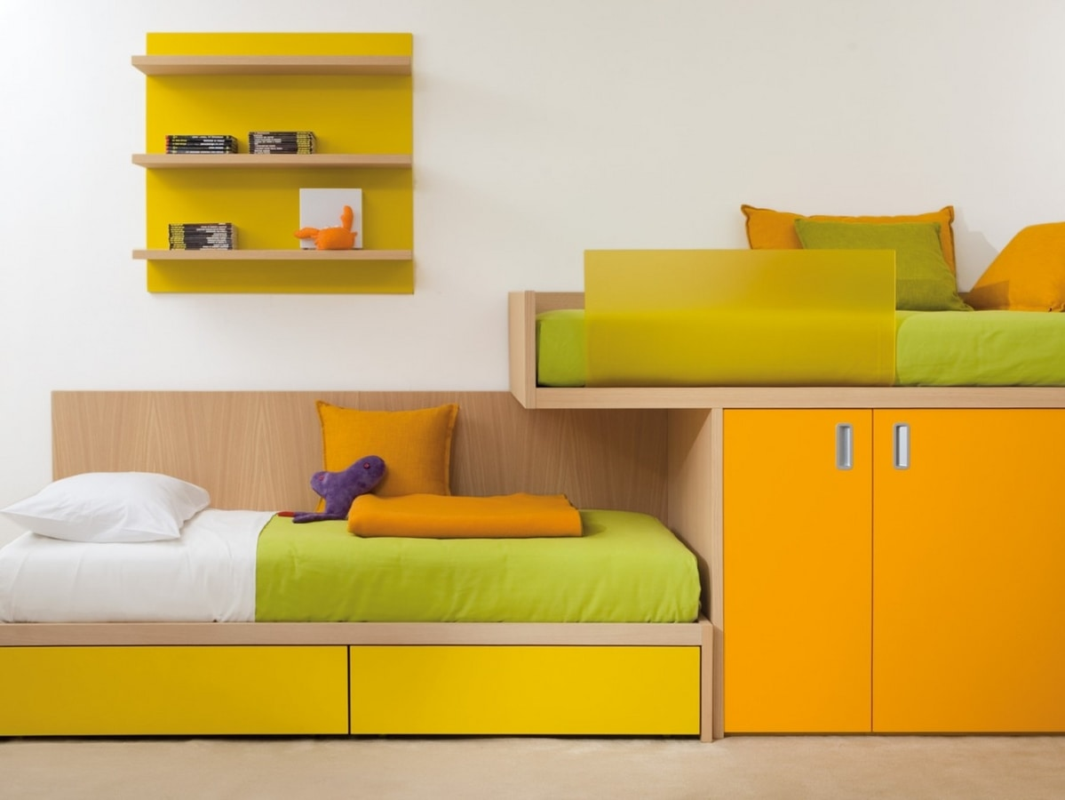 Compact 7050, Bed with built-in wardrobe