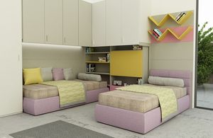 Cool comp.08, Colorful kid bedroom, with folding desk