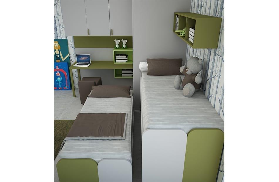 Cool comp.11, Space-saving kid bedroom, with corner wardrobe