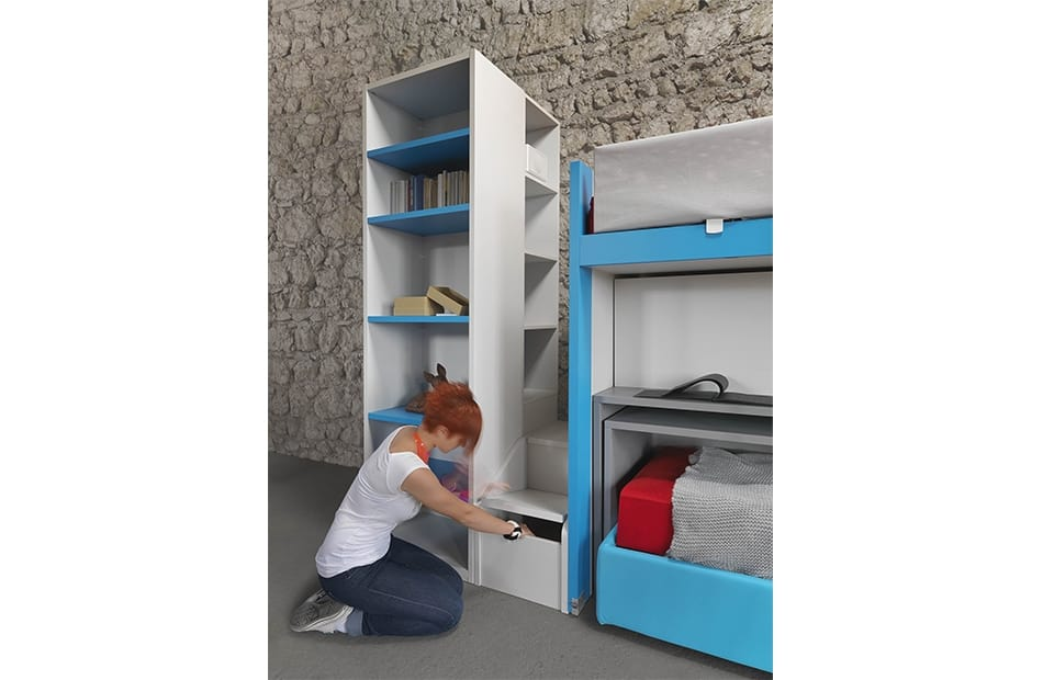 Cool comp.20, Child bedoom furniture with sliding  bunk bed and desk