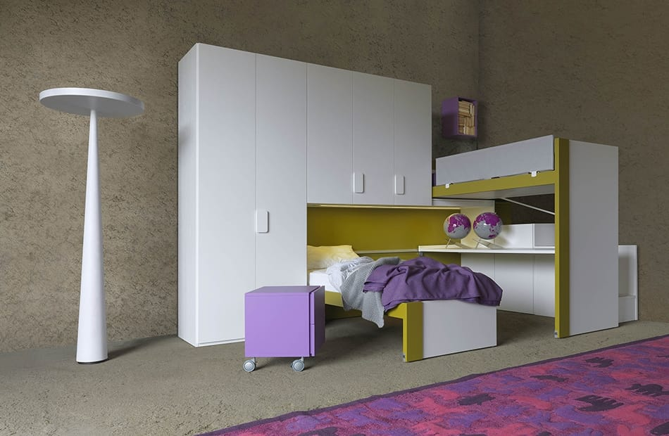 Cool comp.23, Space-saving bedroom with sliding beds