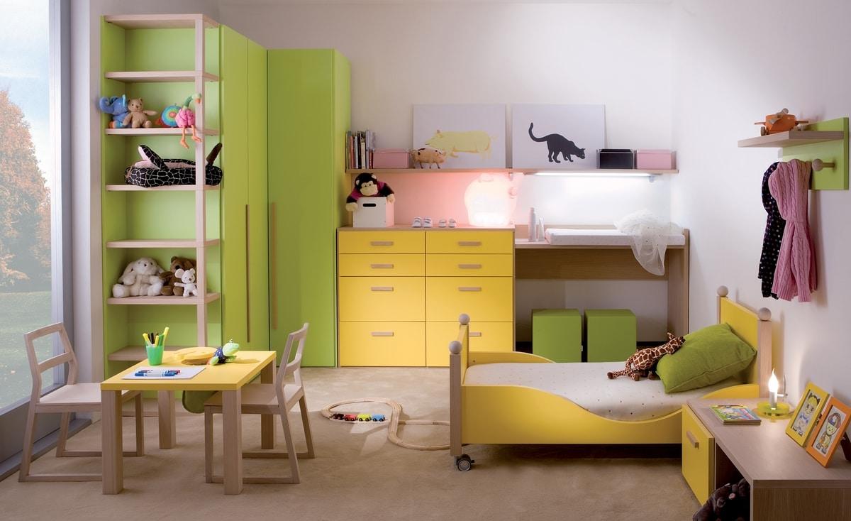 Kids 7004, Kid bedroom with bed on wheels