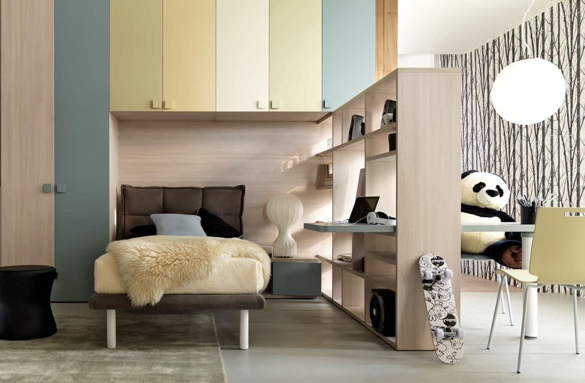 New 141, Space Saving Kid Bedroom, With Built In Bridge Wardrobe