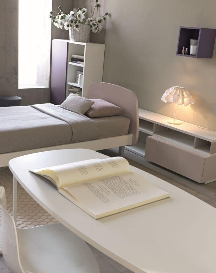 Comp. New 148, Modern bedroom for girls, in several colours