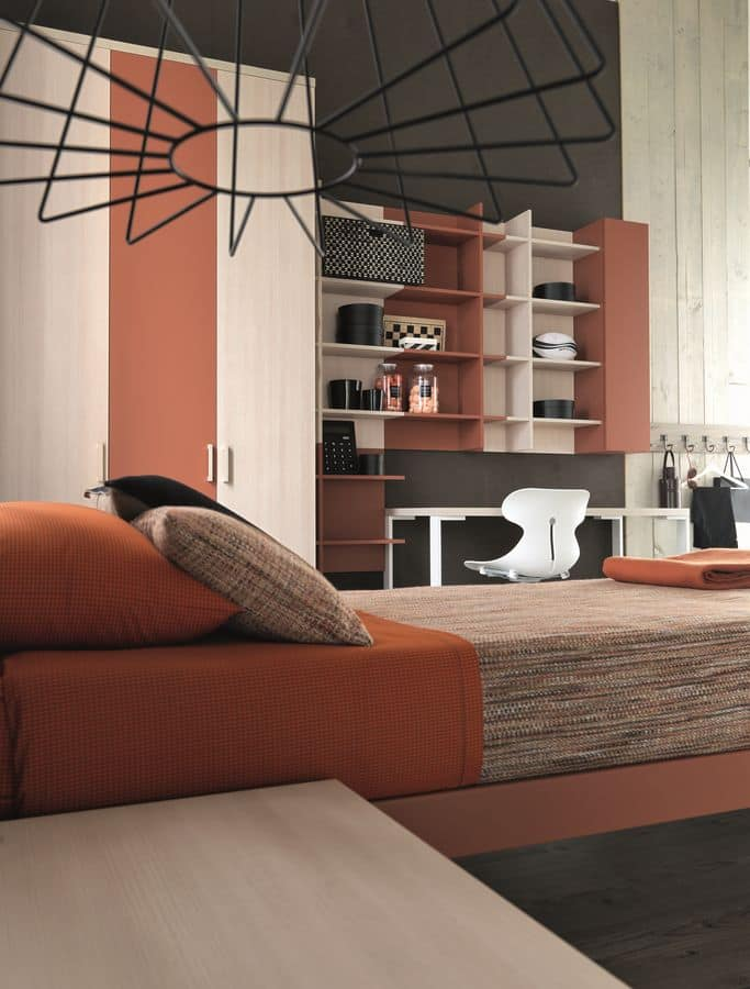 Comp. New 150, Modern room for children, with wardrobes and wall cabinets