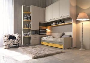 Comp. New 151, Modern room for children, with space-saving doors