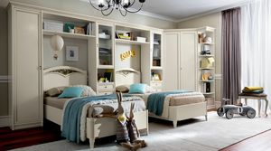 Nostalgia Ricordi kid bedroom, Kid bedroom with bridge wardrobe