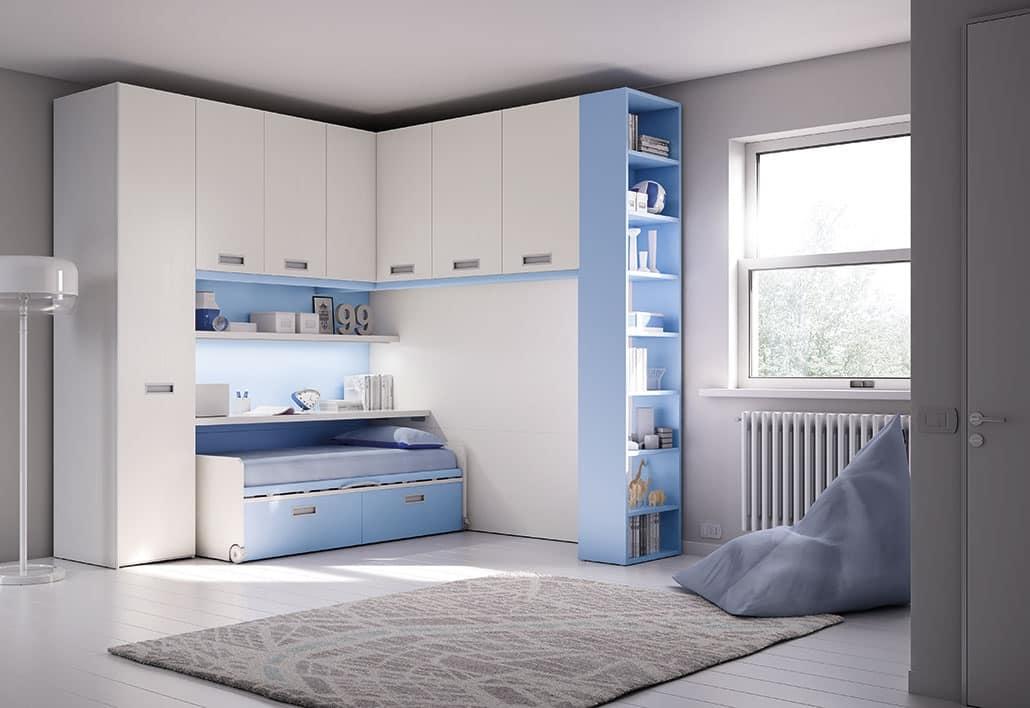 Modern Children Bedroom With Deck And Wardrobe Idfdesign