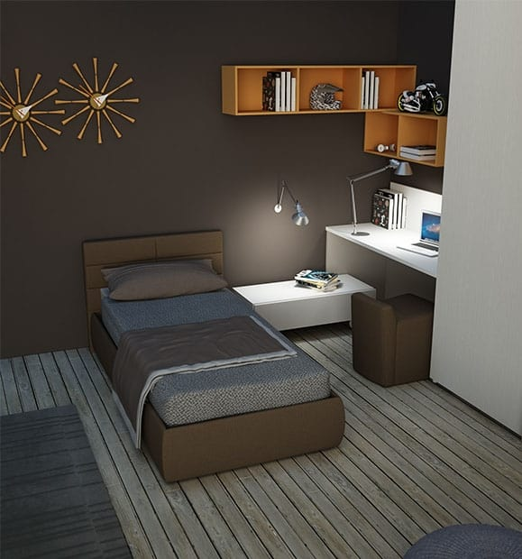 Warm comp.02, Kid bedroom with padded bed