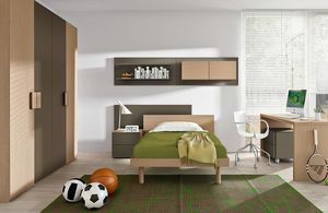Warm comp.03, Two-colored wooden kid bedroom