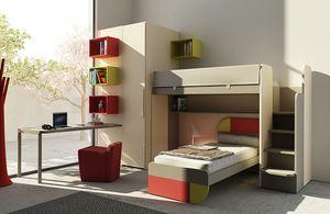 Warm comp.16, Kid bedroom with bunk bed and wardrobe