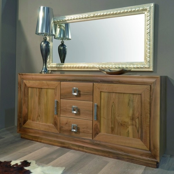 116, Solid wood sideboard, with doors and drawers