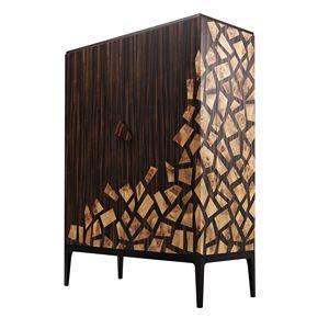 701802 Zarafa, Elegant bar cabinet with briar inserts