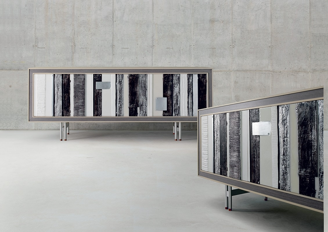 A-614, Modern sideboard, with decorative patchwork