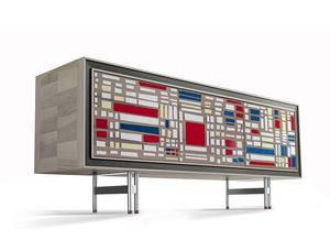 A-616, Sideboard with chromatic patchwork