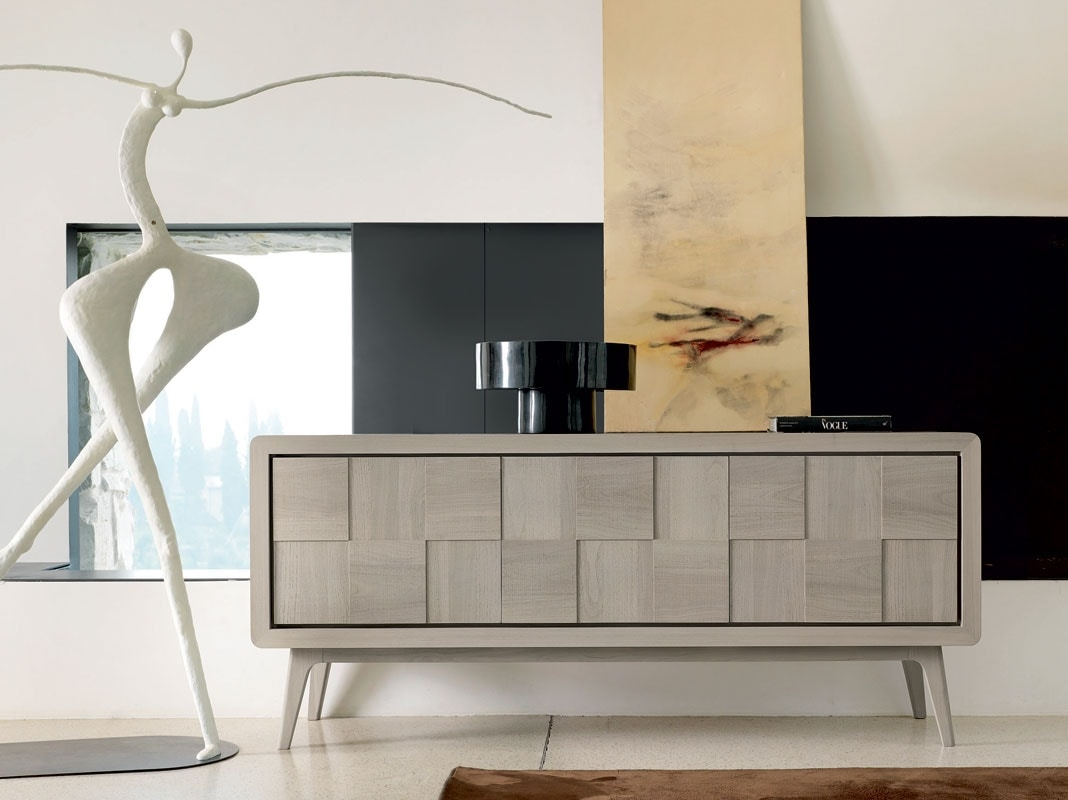 A-630, Sideboard in natural gray walnut